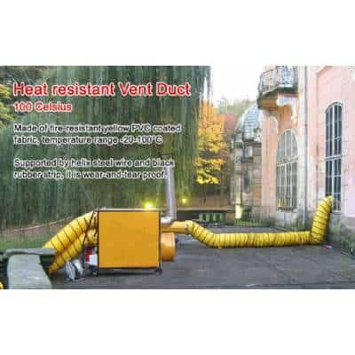 שרוול אוויר חם תעשייתי עמיד חום 100C מעלות