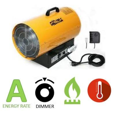 תנור אוויר חם גז Oklima SG100A