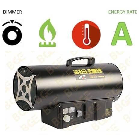 """תנור אוויר גז פד""""ח BGE LPG BGA1401-30"""