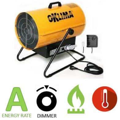 תנור אוויר חם גז Oklima