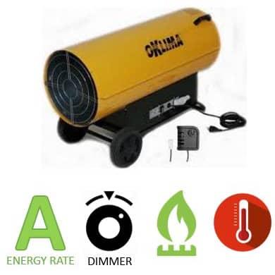 תנור אוויר חם גז דגם SG360A מבית Oklima