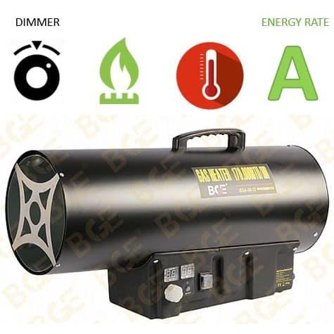 """תנור אוויר גז פד""""ח BGE LPG BGA1401-50"""