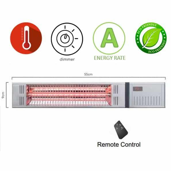 תנור חימום אינפרא אדום דגם ZHQ1592-TRMM של Asystem