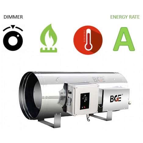 """תנור אוויר חם גז פד""""ח דגם BGE1801-90 מבית BGE"""