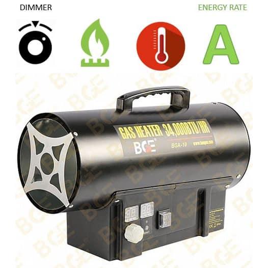 """תנור אוויר גז פד""""ח BGE LPG BGA1401-10"""