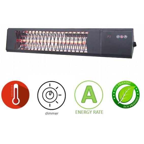 תנור חימום אינפרא אדום Asystem ZHQ2082-TRMM