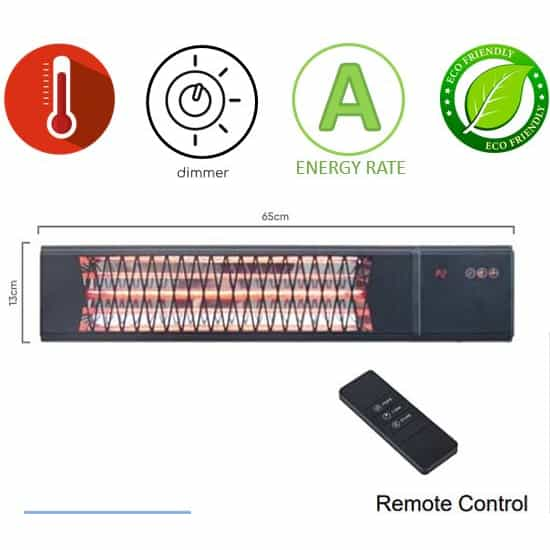 תנור חימום אינפרא אדום Asystem ZHQ2582-TRMM
