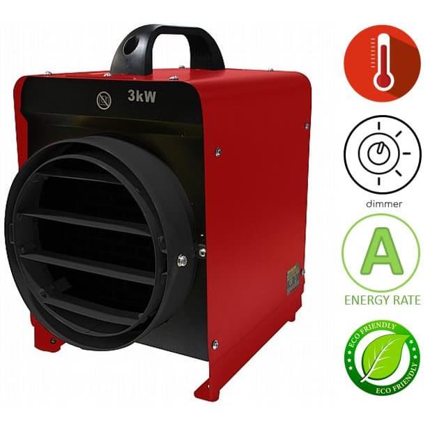 תנור אוויר חם חשמלי נייד Asystem BGP1307-03-18G