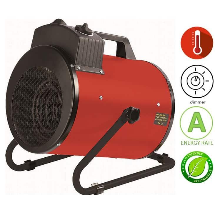 תנור אוויר חם חשמלי נייד Asystem BGP1505-05