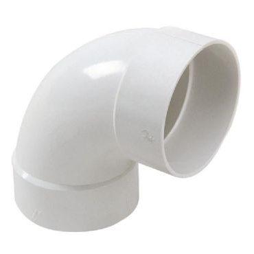 מחבר זווית 90 מעלות לאוורור עשוי PVC מפלסטיק